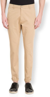 HIGHLANDER Slim Fit Men's Beige Trousers