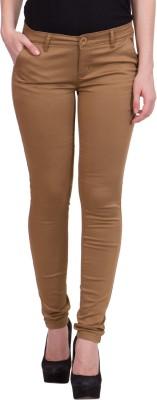 R4U Denim Factory Slim Fit Women's Brown Trousers