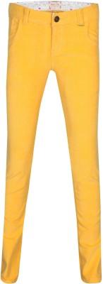 Gini & Jony Regular Fit Girls Yellow Trousers