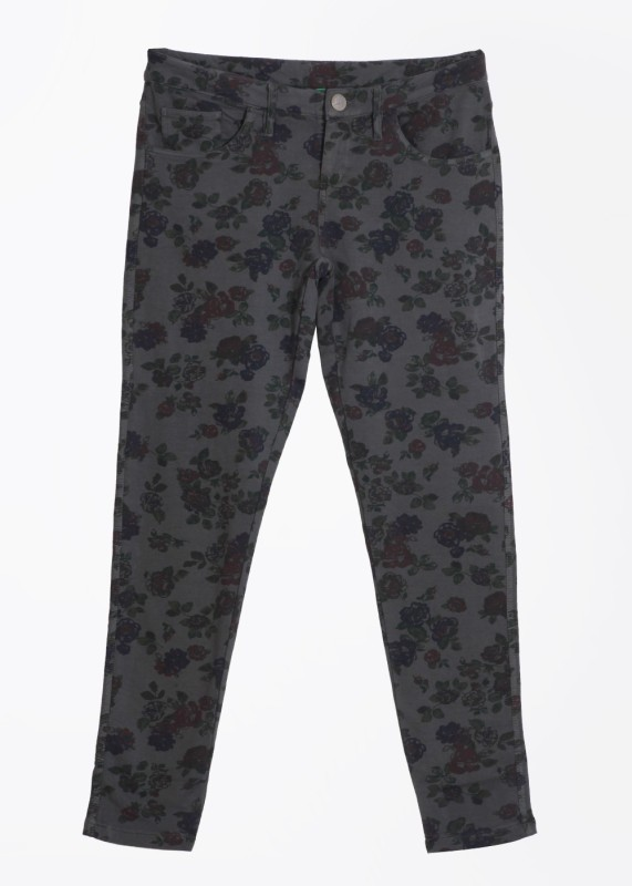 United Colors of Benetton Slim Fit Women's Grey Trousers