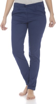 Clodentity Regular Fit Women's Blue Trousers
