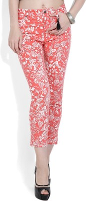 Chemistry Regular Fit Women's White, Pink Trousers
