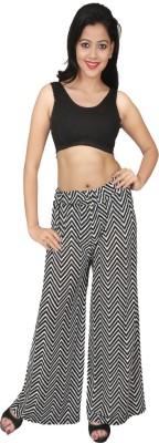 Sanchi Collection Regular Fit Women's Black, White Trousers