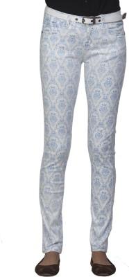 Ixia Slim Fit Women's Blue Trousers