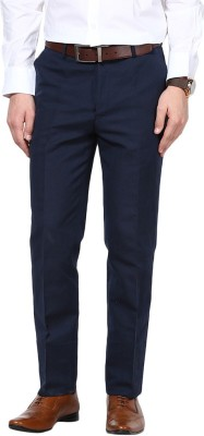 GIVO Slim Fit Men's Linen Blue Trousers