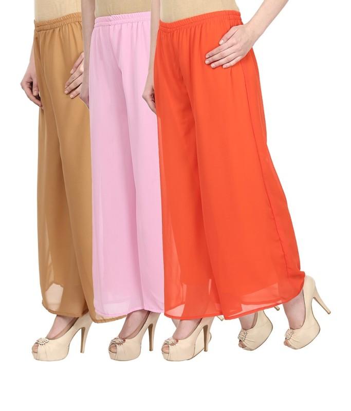 SYS Regular Fit Women's Beige, Pink, Orange Trousers
