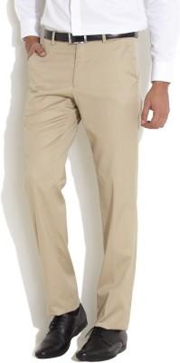 AD & AV Regular Fit Men's Cream Trousers