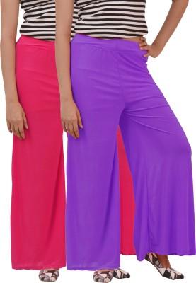 Ace Regular Fit Women's Purple, Pink Trousers