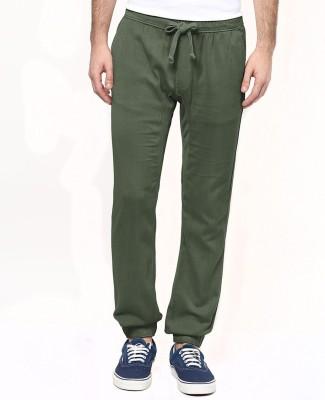 Wear Your Mind Regular Fit Men's Dark Green Trousers