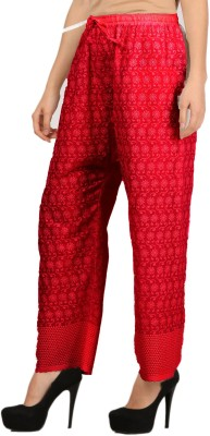 VASTRAA FUSION Regular Fit Women's Red Trousers