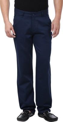 Adhaans Regular Fit Men's Dark Blue Trousers