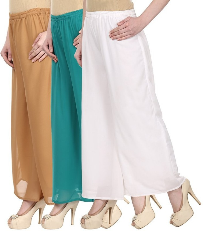 SYS Regular Fit Women's Beige, Green, White Trousers