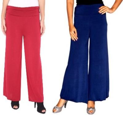 Zadine Regular Fit Women,s Red, Dark Blue Trousers