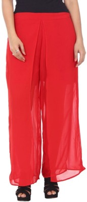 Awesome Regular Fit Women's Red Trousers