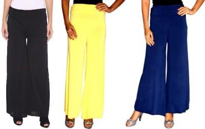 Zadine Regular Fit Women,s Black, Yellow, Dark Blue Trousers