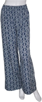 Tara Lifestyle Regular Fit Women's Blue Trousers