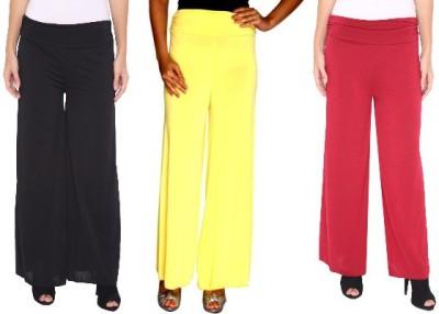 Zadine Regular Fit Women,s Black, Yellow, Red Trousers