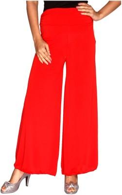 Zadine Regular Fit Women,s Red Trousers