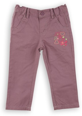 Lilliput Regular Fit Girls Purple Trousers