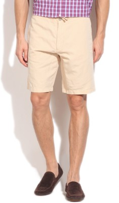 Kenneth Cole Solid Mens Beige Basic Shorts