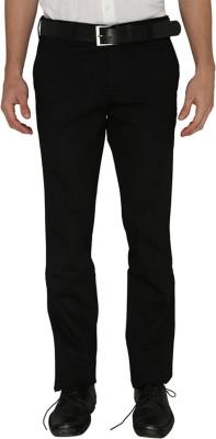 Greenfibre Slim Fit Men's Black Trousers