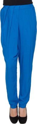 Amari West By INMARK Regular Fit Women's Blue Trousers