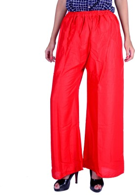 LETSGETIT Regular Fit Women's Red Trousers