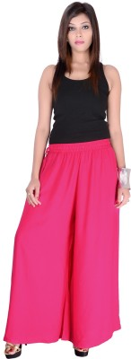 Pink Stone Regular Fit Women's Pink Trousers