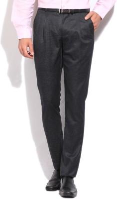 Arrow New York Slim Fit Men's Black Trousers