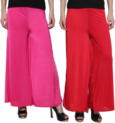 Both11 Regular Fit Women's Purple, Red Trousers