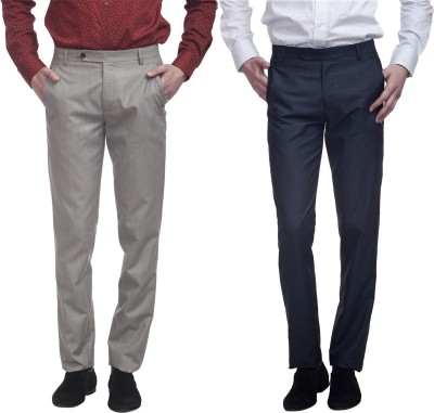 Divini Slim Fit Men's Multicolor Trousers