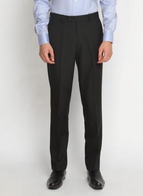 SUITLTD Slim Fit Men's Black Trousers