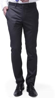 Brahaan Blue Tag Slim Fit Men's Grey Trousers