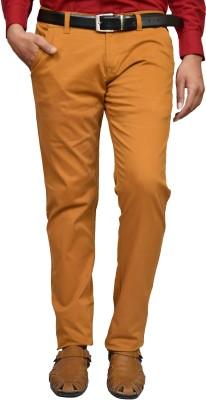 American Noti Slim Fit Men's Yellow Trousers