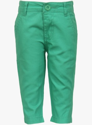 Baby League Regular Fit Baby Boy's Green Trousers