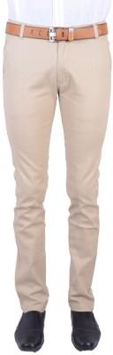 Logas Slim Fit Men's Cream Trousers