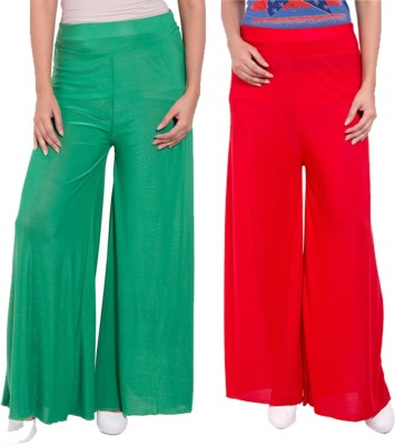 Komal Trading Co Regular Fit Women's Green, Red Trousers