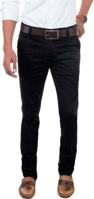 David Flynn Regular Fit Men's Black Trousers
