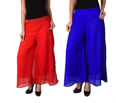 2Day Regular Fit Women's Red, Blue Trousers