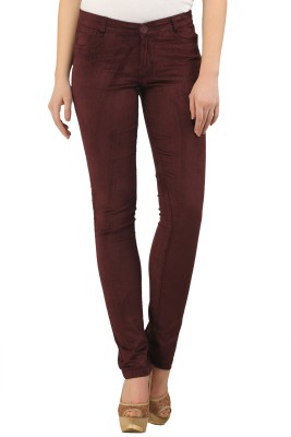 X'Pose Slim Fit Women's Brown Trousers at flipkart