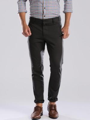 HRX by Hrithik Roshan Regular Fit Men's Grey Trousers