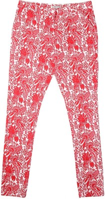 Allen Solly Regular Fit Girl's Red Trousers