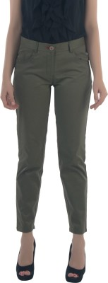 Fast n Fashion Slim Fit Women's Green Trousers at flipkart