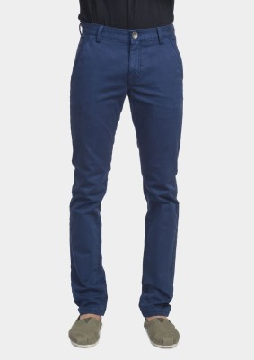 Bhane Slim Fit Men's Dark Blue Trousers