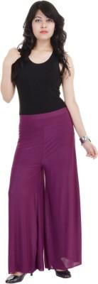 SANA FAB Regular Fit Women's Purple Trousers