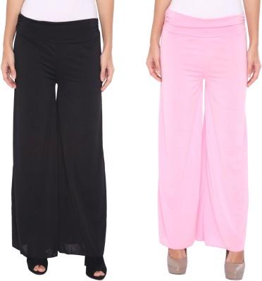Zadine Regular Fit Women,s Black, Pink Trousers