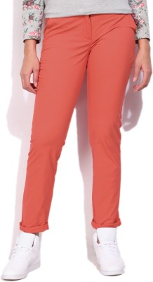 Allen Solly Womens Red Trousers