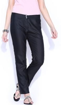 Fabindia Regular Fit Women's Black Trousers