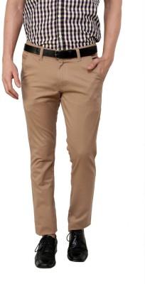 Zaab Slim Fit Men,s Beige Trousers