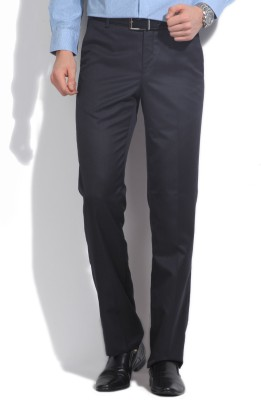 Excalibur Slim Fit Men's Blue Trousers